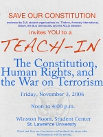 poster for LSU teach-in